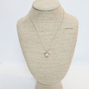 Sterling Silver Shell Cage w/Pearl Necklace